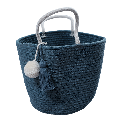 Organic Rope Basket Blue Spruce - Small, Fabelab