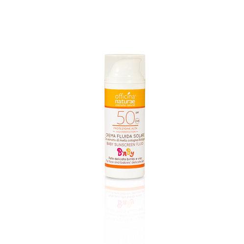 Organic Baby Sunscreen Fluid SPF 50 High Protection, Officina Naturae
