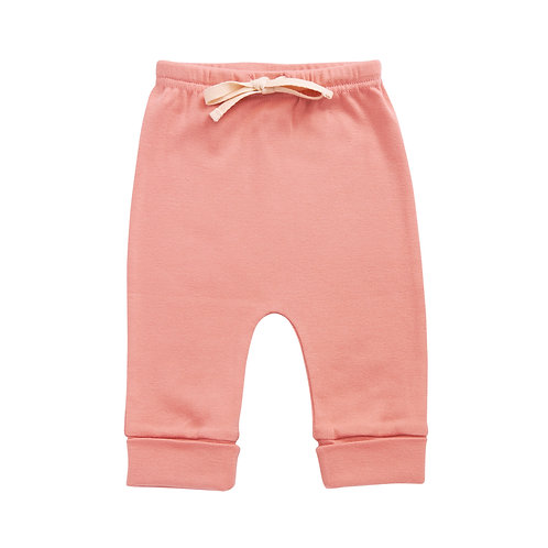 Organic Cotton Drawstring Pants Pink, Nature Baby