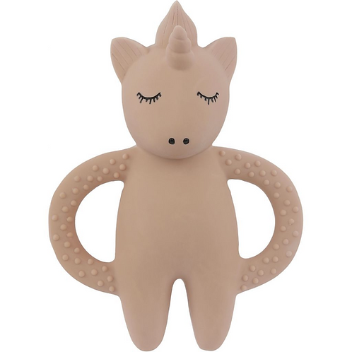 Natural Rubber Teether Unicorn Rose, Konges Slojd