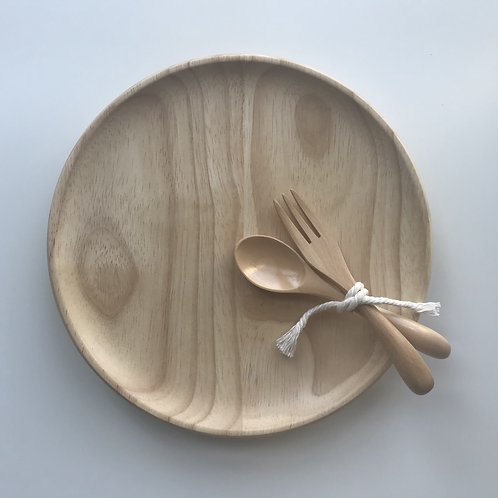 Eco Wood Toddler Dining Set, Dove and Dovelet