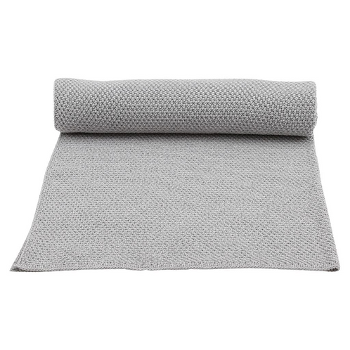 Organic Cotton Knitted Blanket Grey Melange, Konges Slojd