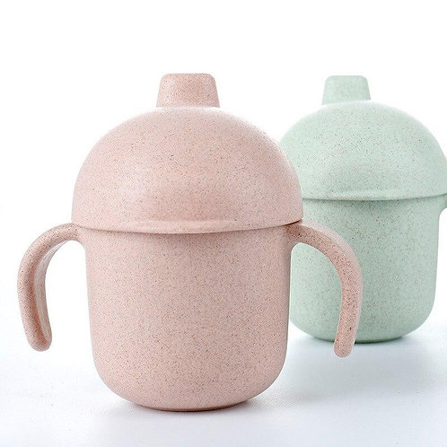 Wheat Fiber Sippy Cup - Blush Pink, Dove and Dovelet