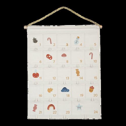 Advent Wall Calendar - Organic Cotton, Fabelab