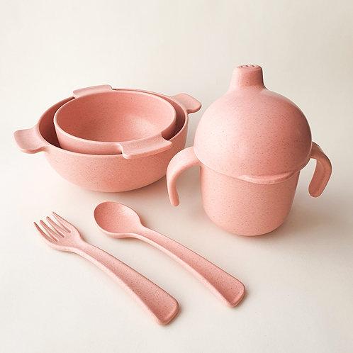 Wheat Fiber Dinner Set - Blush Pink, Dove and Dovelet