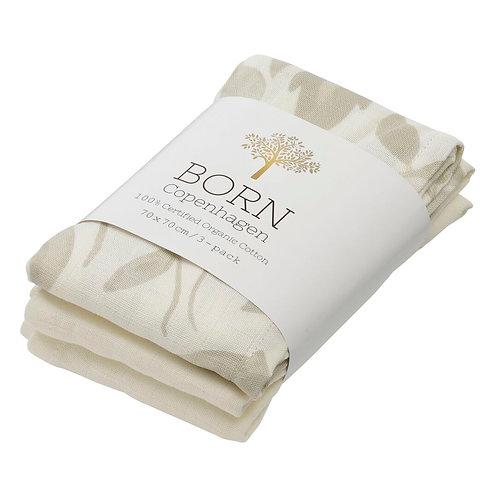 Organic Cotton Muslin Flora (3-pack), Born Copenhagen