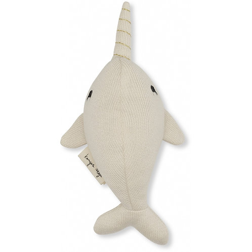 Organic Cotton Mini Whale Off White, Konges Slojd