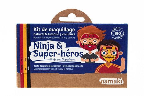 Organic Face Paint Kit Ninja & Superhero, Namaki