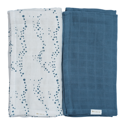 Organic Cotton Swaddle Ocean (2-Pack), Fabelab