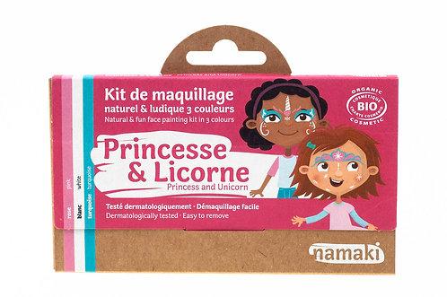 Organic Face Paint Kit Princess&Unicorn, Namaki
