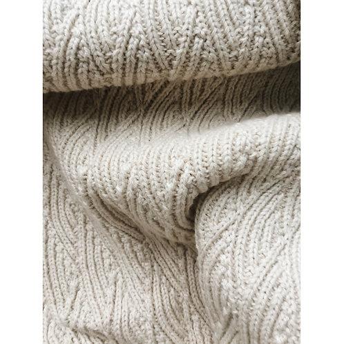 Organic Cotton Pointelle Blanket Natural , Konges Slojd