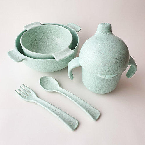Wheat Fiber Dinner Set - Sea Green, Dove and Dovelet