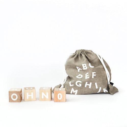 Wooden Alphabet Blocks White, Ooh noo