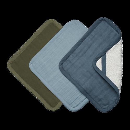Organic Washcloths (3-pack) Coastal, Fabelab