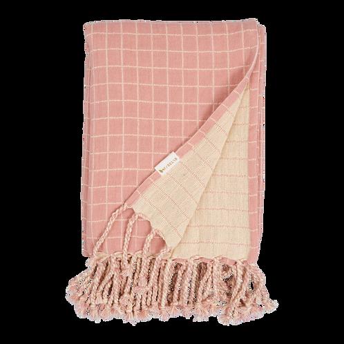 Organic Cotton Baby Blanket Rose, Fabelab