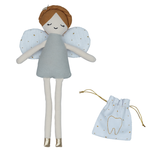 Organic Cotton Tooth Fairy Doll & Pouch, Fabelab