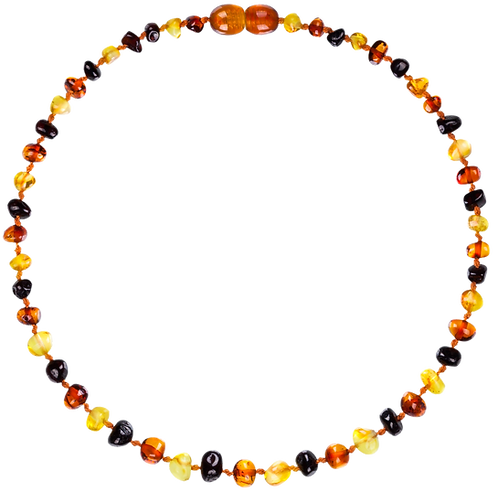 Premium Amber Baby Teething Necklace Multicolor, Made by Nature