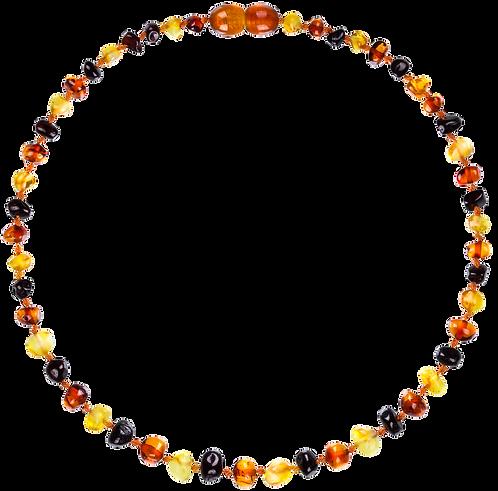 Premium Amber Necklace Multicolor, Amberos