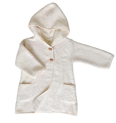 Bathrobe Vanilla 1-2Y Organic Cotton, Petit Stellou