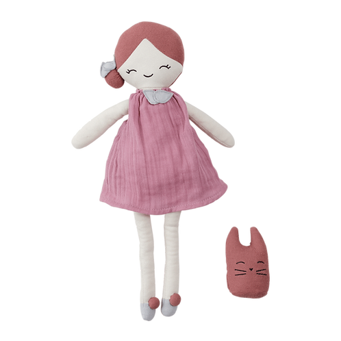 Organic Cotton Big Doll - Berry, Fabelab