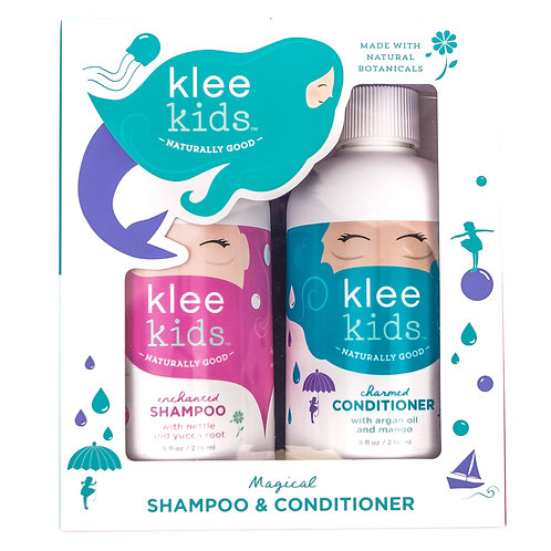 KLEE NATURALS ORGANIC ENCHANTED SHAMPOO | CHARMED CONDITIONER - KIDS GIFT SET