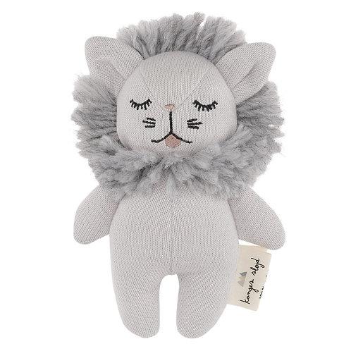 Rattle Mini Lion Grey - Organic Cotton, Konges Slojd