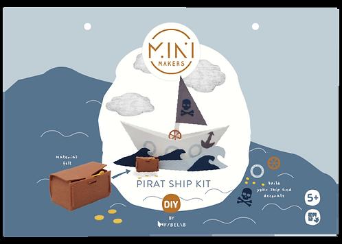 Pirate Ship DYI Kit, Mini Makers by Fabelab