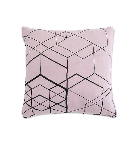 Organic Cushion Cover Matrix Pale Pink, Ooh Noo