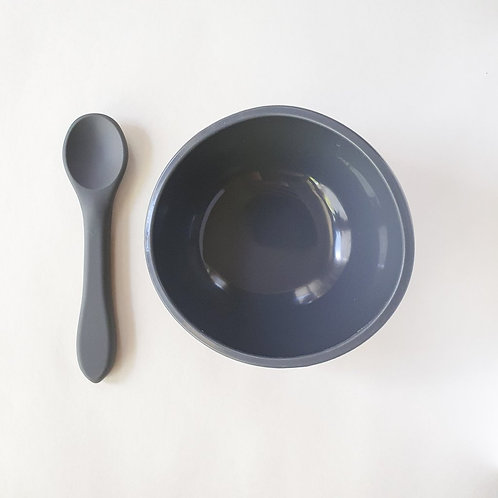 Silicone Suction Bowl & Spoon Rhino, Dove and Dovelet