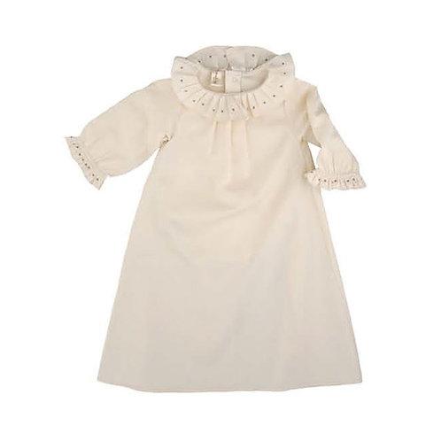 Organic Cotton Newborn Long Dress, Naturapura