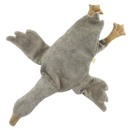 Organic Cuddly Animal / Heat Cushion - Goose Large Grey, Senger Naturwelt