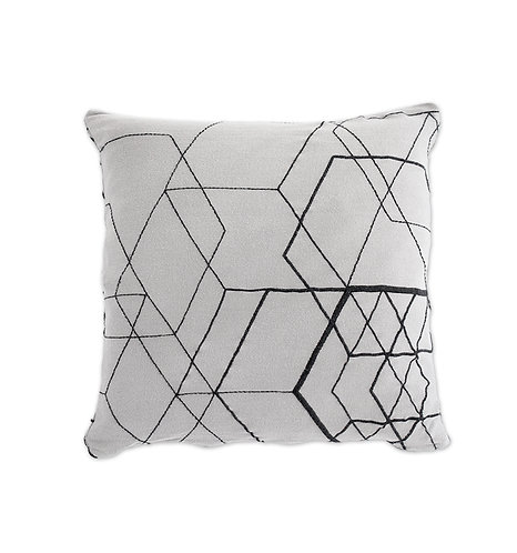 Organic Cushion Cover Matrix Light Grey, Ooh Noo