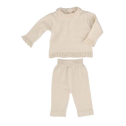 Organic Cotton Knitted Sweater & Pants, Naturapura babywear