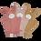 Organic Baby Bath Mitts Bear Rose Mix (3-pack), Fabelab