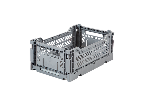 Mini Box Storage Crate - Grey, Aykasa