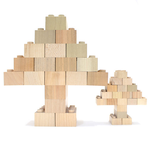 Large Wooden Bricks (28 pieces), Mokulock - Made by Nature | Dubai