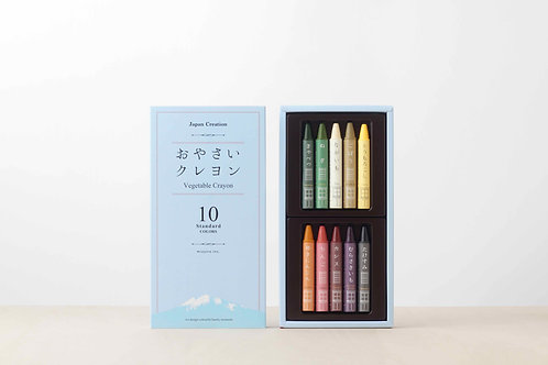 All-Natural Vegetable Crayons 10 color-pack, Mizuiro
