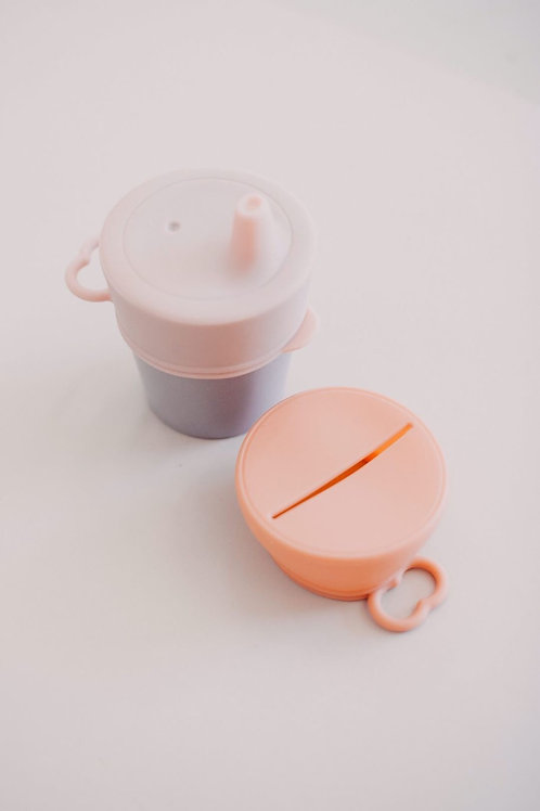 Sippy & Snack Lid Set Spring, Dove and Dovelet