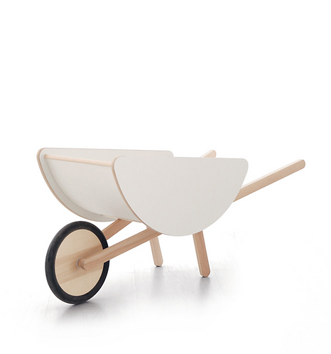 Toy Wheelbarrow White, Ooh Noo Designer Toys
