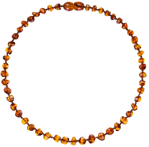 Premium Amber Baby Necklace Caramel, Made by Nature
