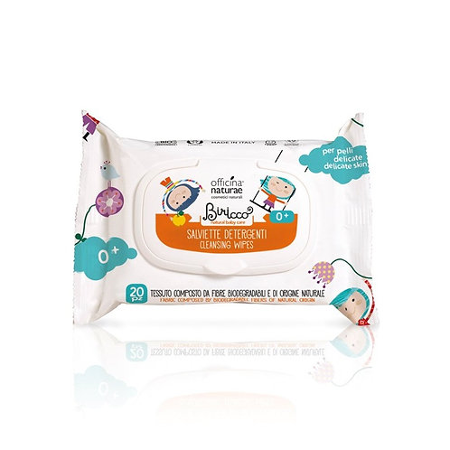Organic Baby Cleansing Wipes, Biricco by Officina Naturae