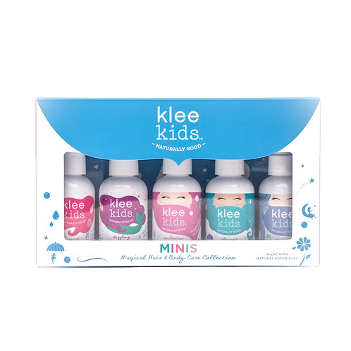 KLEE NATURALS ORGANIC MAGICAL HAIR AND BODY CARE 5 PIECE MINIS GIFT SET