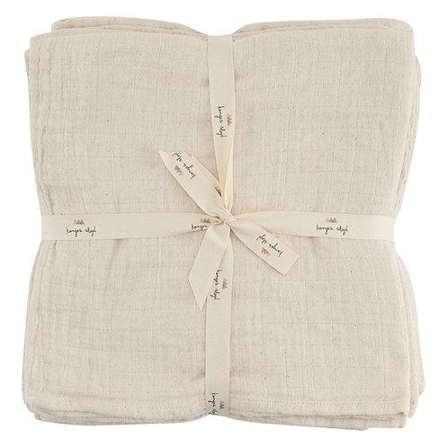 Organic Cotton Muslin Nature (10-pack), Konges Sløjd