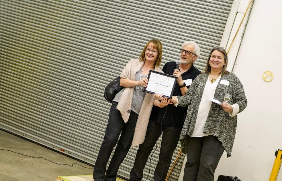 Java Group Programs Founders Kristine Theurer (left), Clayton MacKay (center) and entrepreneurship@UBC Managing Director, Kari LaMotte (right)