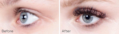 VOLUME LASHES Before & After