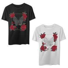 BIG Tshirt -Butterfly Rose-