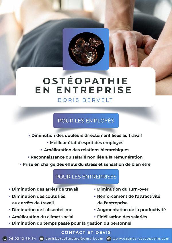 Ostéopathie en Entreprise - Boris Bervelt