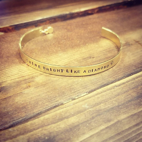 """Shine Bright Like a Diamond"" bracelet"
