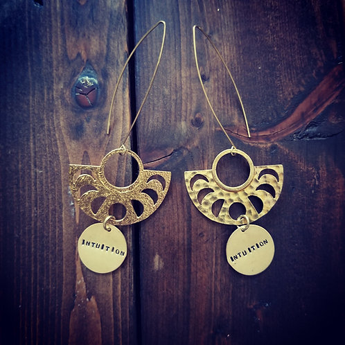 Intuition Moon Phase earrings