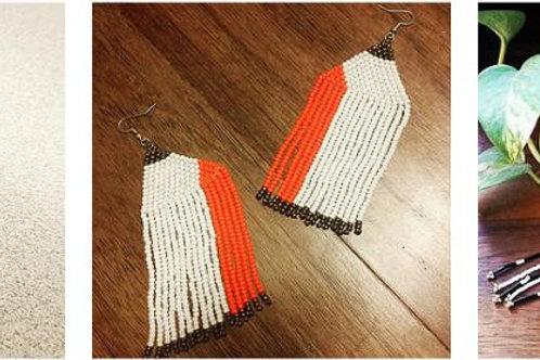 Amaterasu Fringe Earrings